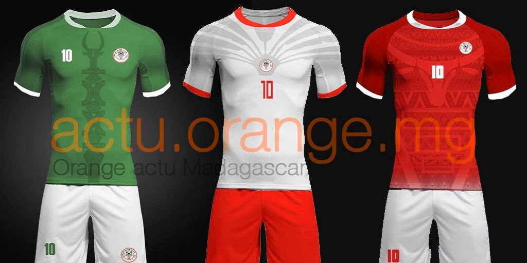 Maillot officiel barea de madagascar can 2019